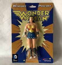 "NJCroce DC Comics 6"" Bendable Wonder Woman Figure Original Packaging DC 3903"