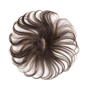Wavy Curly Top Hair Clip in 100% Human Hair Topper Hairpiece Top Hair Women