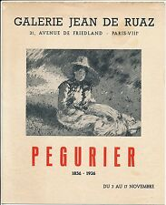 Exposition Auguste PEGURIER 1951 - 4 Photos Galerie Jean de Ruaz - Pl 4