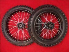 "Big Wheel & Tyre Pit Bike Conversion Kit. Black 17"" Front 14"" Rear 15mm Steel"