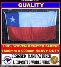 Chile flag Chilean flag 180cm x 90cm woven & printed Quality LARGE