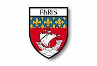 Stickers decal souvenir vinyl car shield city flag world crest paris