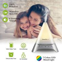 120ml Cool Mist Humidifier Ultrasonic Aroma Essential Oil Diffuser 7 Color Light
