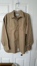 NEW Panhandle Slim Brand Retro Western Wear Cowboy Shirt Beige / Tan Size Large