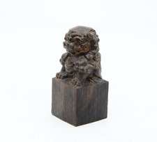 Exquisite natural Agarwood Hand-carved Lion statue antique Ornaments