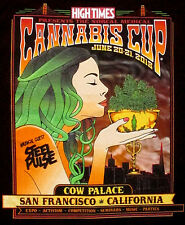 Small High Times Magazine 2015 NorCal Cannabis Cup Steel Pulse TShirt Black New