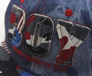 New Boy Girl Adjustable Baseball Cap Kids Snapback Children SCHOOL HIP HOP Hat