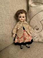 """Gorgeous Artist Reproduction 6.5"""" All Bisque Doll With Antique Clothes French"""