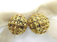 18KGP Leopard Print Swarovski Element Austrian Crystal Clip On Earrings