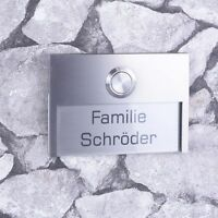 Türklingel Edelstahl Haustürklingel Gravur Klingelplatte Klingelknopf LED (JL)