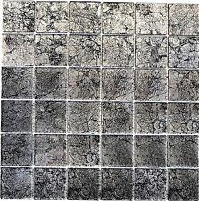 Glasmosaik uni schwarz Struktur Fliesenspiegel Küche Art: 126-CM4BL22 | 10Matten