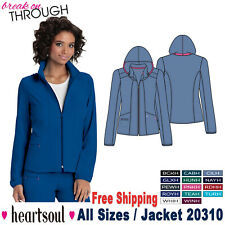 Heartsoul Scrubs Women's Two Patch Pockets Contemporary Warm Up Jacket 20310
