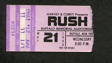 1980 Rush Max Webster Concert Ticket Stub Buffalo Permanent Waves Tour Freewill