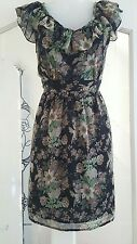 **Lovely black summery floral dress size 16 by Atmosphere**
