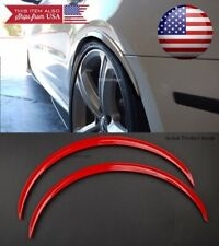 """1 Pair Red 1"""" Flexible Arch Extension Wide Fender Flares Lip Guard For Chevy"""