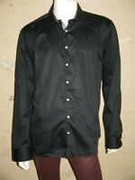 DEVRED Taille XXL - 2XL SLIM FIT Superbe chemise manches longues noire homme