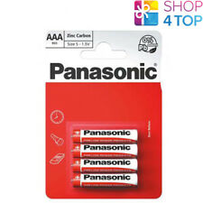 4 PANASONIC ZINC CARBON AAA LR03 BATTERIES BLISTER 1.5V MICRO MN2400 E92 NEW