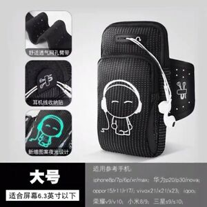 Black Water Resistant Sport Running Workout Exercise ArmBand