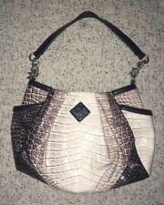 New~SIMPLY VERA WANG  Satchel Handbag Purse Bag~Croc Pattern~Cream, Beige, Black