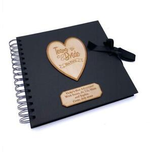 Personalised Team Bride Hen Party Scrapbook Photo Album Black Cover
