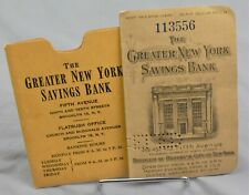 1920'S GREATER NEW YORK SAVINGS BANK ACCOUNT BOOK EPHEMERA GREAT DEPRESSION ERA!