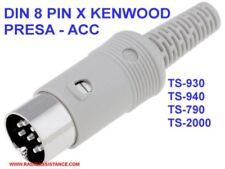 PRESA DIN 8 PIN KENWOOD PRESA ACC - TS-930 TS-940 - TS2000
