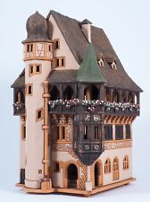 Ceramic house tea light holder 'Pfister house in Colmar, France', 29 cm,© Midene