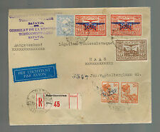 1938 Batavia Netherlands Indies Airmail Cover to the Hague Czechoslovakia Consul