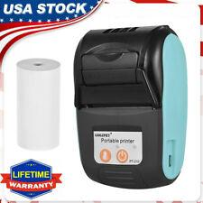 58mm Portable Bluetooth Wireless Pocket Mobile Pos Thermal Receipt Printer W2h7