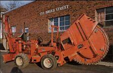 Glen Rock NJ Frank's Earth Saw Service Tractor Giant Saw - Postcard