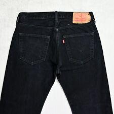 Mens LEVIS 501 Regular fit Jeans size W32 L27 Straight Leg Button Fly Denim dark