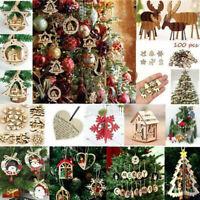 Christmas Wooden Pendant Hanging Door Decorations Xmas Tree Home Party New_UK