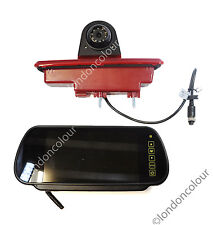 Renault Traffic Vivaro Brake Light Rear View Reverse Camera 7 inch Monitor Kit