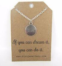 """""""se è possibile Dream questa, puoi farcela"""" credere che ispirano messaggio CARD Collana NUOVO"""
