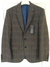 Marks & Spencer Da Uomo In Tweed Lana Blazer Jacket, taglia 38 media, nuova con etichetta