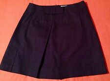 Boden 100% Cotton Womens Lined Bow Pleat Knee Length A-Line Skirt UK 14R US 10R