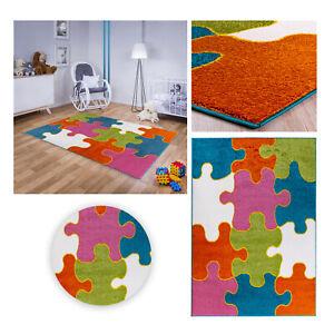 Kinderteppich Spielteppich Babyteppich Mädchen Jungen Grün Blau Puzzle Rosa bunt