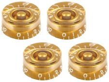 GOLD EMBOSSED SPEED KNOBS FOR GIBSON LES PAUL / EPIPHONE GUITAR (4-PACK) *NEW*