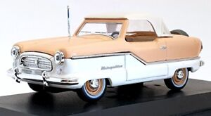 Vitesse 1/43 Scale L025 - 1959 Nash Metropolitan Coupe H/T - Beige/White