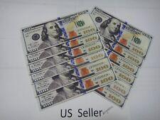 12x-Newest hundred 100 dollar bill wallet bi-fold ultra thin canvas card holder