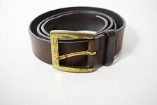 Calvin Klein Jeans Original Mens Leather Belt Brown