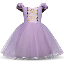 Baby Girl Repunzel Dress Costume Dress Up Tulle Princess Summer Clothes 3 4 5T