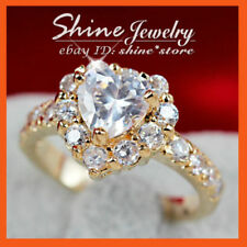 Love & Hearts Yellow Gold Filled Fashion Rings