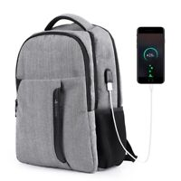 Men's Anti-theft Backpack Travel Notebook Large School Bag W/ USB Charging Port