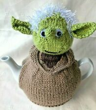 Hand Knitted Yoda Tea Cosy For  2 To 3 Pint Tea Pot