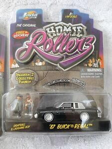 JADA HOMIE ROLLERS 87 buick regal black with Pin Striping EightBall laughing boy
