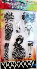 Black Diamonds Dylusions Clear Acrylic Stamp & Stencil Set DYZ48336 NEW!