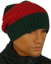 NEW GUCCI LUXURY WEB DETAIL KNITTED WOOL BEANIE HAT 58/M MEDIUM