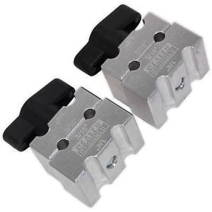 "Sealey 2pc Brake Pipe Clamp Set Shaping Bending Aid Car Van 3/16"" 1/4"" Pipe"
