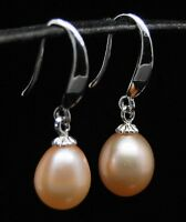 "MP"" Lovely AAA+ 9-10mm pink dangle pearl 925S earrings (10 pair of this earring)"